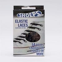 Shoeps  Elastic Shoelaces  Black 50076A