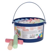 Sidewalk chalk in bucket, 37dlg