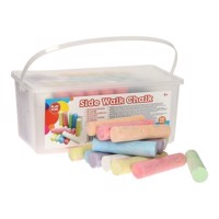Sidewalk chalk in bucket, 50pcs