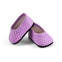 Skrållan - Lillian Dolls Clothing - Purple Shoes with Dots, 36 cm