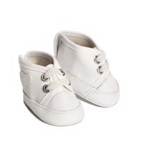 Skrållan - Lillian Dolls Clothing - White Gym Shoes, 36 cm