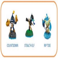 Skylanders Imaginators  Triple Pack  Countdown  Stealth Elf  Riptide