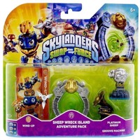 Skylanders Swap Force Adventure Pack Wind Up, Sheep Reck Island, Platinum Sheep, Groove