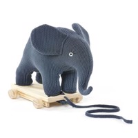 Smallstuff  Pull Along  Elephant  Dusty Navy