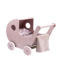 Smallstuff - Wooden Doll Stroller - Powder