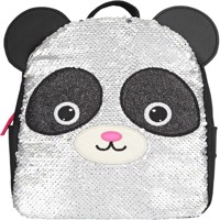 Snukis small backpack sequins panda
