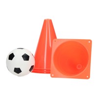 Soccer training set with pawns