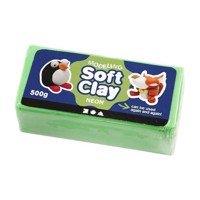 Soft Clay  Neon Green, 500gr
