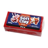 Soft Clay  Red, 500gr
