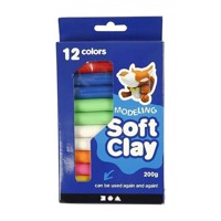 Soft Clay set with various colors, 200gr