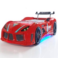 Speed tuning 4Wd car bed w led light and sound Red