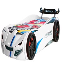 Speedy 4Wd car bed w led light and sound white