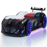 Speedy turbo tech car bed w led light and sound black