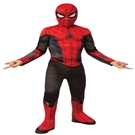 Spiderman Far From Home Rød/Sort Kostume (3-10 år)(Str. 137/M)