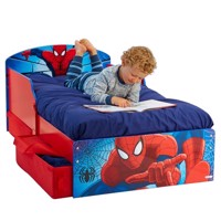 Spiderman junior wooden bed w storage 140Cm