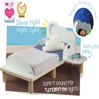 Star bright junior bed w night light and table 140Cm