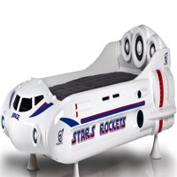 Stars rockets spaceship bed w led light and sound