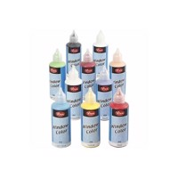 Sticker and Glass Paint  Set of 10 Colors, 80ml