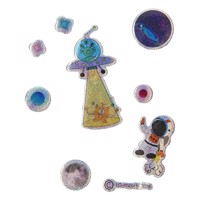 Stickers Spacetravel Glittering