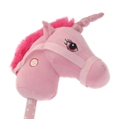 Stick Horse Unicorn with Sound - Pink