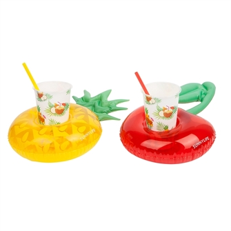 Sunny life luxe inflatable drinkholders party pinacolada