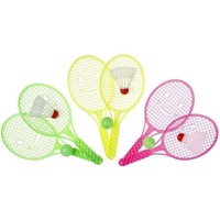 This tennis set with ball and Shuttle