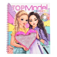 Topmodel colouringbook sequin