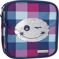 Top Model  Pencil Case Smiley Sequense  Blue 0010225