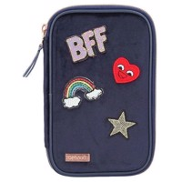 Top Model  Pencil Case Velvet  Navy 0010223