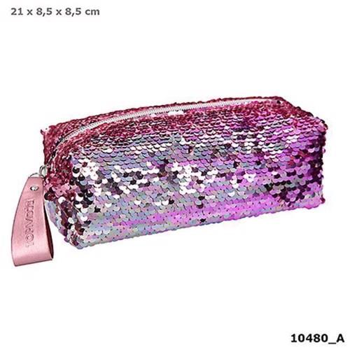 TOPModel Pencilcase wSequins Pink 10480
