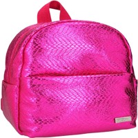 Top model small backpack snakeskin look pink