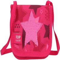 Topmodel smallbag wallet w sequin star pink