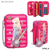 Top Model- Trippel Pencil Case - Pink (040784)