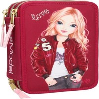 Top Model  Trippel Pencil Case Velvet  Red 0410028