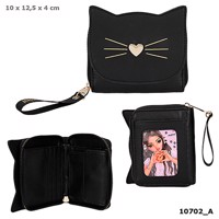 Topmodel Wallet Cat Black