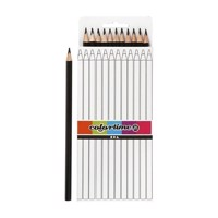 Triangular colored pencils  Black, 12pcs