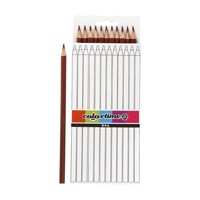 Triangular colored pencils  Brown, 12pcs