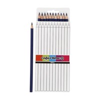 Triangular colored pencils  dark blue, 12pcs