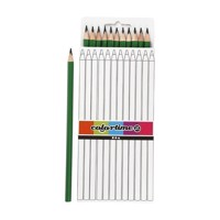 Triangular colored pencils  Green, 12pcs