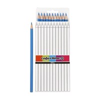 Triangular colored pencils  Light blue, 12pcs