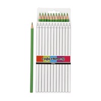 Triangular colored pencils  Light green, 12pcs