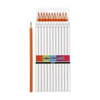 Triangular colored pencils  Orange, 12pcs