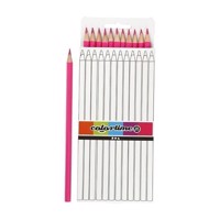 Triangular colored pencils  Pink, 12pcs