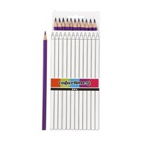Triangular colored pencils  Purple, 12pcs