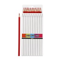 Triangular colored pencils  Red, 12pcs