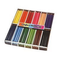 Triangular Jumbo colored pencils  Basic colors, 144st