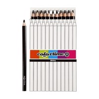 Triangular Jumbo colored pencils  Black, 12pcs