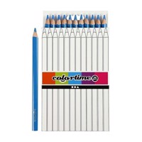 Triangular Jumbo colored pencils  Blue, 12pcs