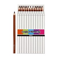 Triangular Jumbo colored pencils  Brown, 12pcs