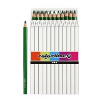 Triangular Jumbo colored pencils  Green, 12pcs